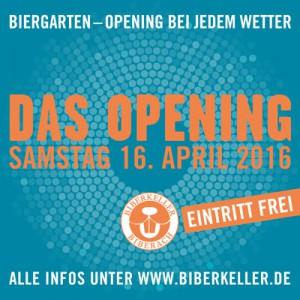 Biberkeller Biergarten Opening 2016